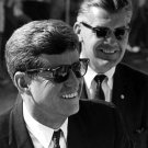 PRESIDENT JOHN F. KENNEDY WITH SECRET SERVICE AGENT BEHIND - 8X10 PHOTO (AA-969)