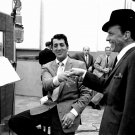 DEAN MARTIN & FRANK SINATRA IN THE RECORDING STUDIO RAT PACK 8X10 PHOTO (AA-985)