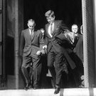 JOHN F KENNEDY EXITS CATHEDRAL AFTER ANNUAL RED MASS SERVICE 8X10 PHOTO (BB-343)