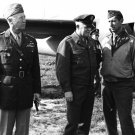WWII GENERALS GEORGE PATTON, HAP ARNOLD AND MARK CLARK - 8X10 PHOTO (BB-758)
