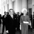PRINCESS GRACE OF MONACO PRINCE RAINIER III AT WHITE HOUSE - 8X10 PHOTO (BB-169)