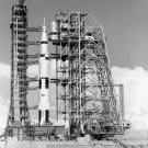 MOBILE SERVICE STRUCTURE APPROACHES APOLLO 11 SATURN V 8X10 NASA PHOTO (BB-131)