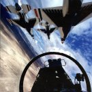 USAF THUNDERBIRDS DIAMOND FORMATION VIEW FROM INSIDE COCKPIT 8X10 PHOTO (EP-111)