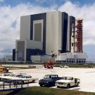 APOLLO 11 SATURN V ROLLS OUT OF VEHICLE ASSEMBLY BUILDING - 8X10 PHOTO (EP-361)