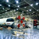 SATURN V ROCKET FIRST STAGES IN HORIZONTAL ASSEMBLY AREA AT MICHOUD 8X10 NASA PHOTO (DA-239)