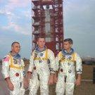 APOLLO 1 ASTRONAUTS ED WHITE, GUS GRISSOM & ROGER CHAFEEE- 8X10 PHOTO (EP-443)