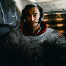 GENE CERNAN INSIDE THE APOLLO 17 LUNAR MODULE - 8X10 NASA PHOTO (EP-527)