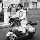 KATHARINE HEPBURN RIDES A VESPA SCOOTER IN 1956 - 8X10 PHOTO (ZZ-269)