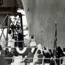 CAROLINE KENNEDY CHRISTENS THE USS JOHN F. KENNEDY IN 1967 - 8X10 PHOTO (AA-139)