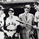 JOHN KENNEDY WITH TED WILLIAMS HANK GREENBERG IN 1946 - 8X10 PHOTO (AA-232)