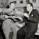 WALT DISNEY WITH ED SULLIVAN IN 1953 - 8X10 PUBLICITY PHOTO (AZ-028)