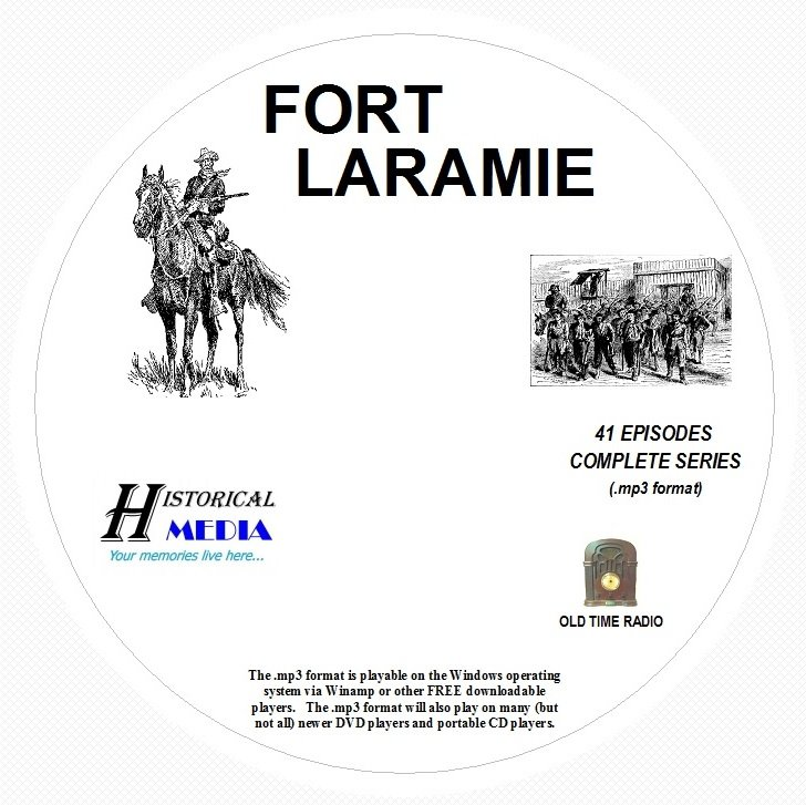 FORT LARAMIE - 41 Shows Old Time Radio In MP3 Format OTR 1 CD