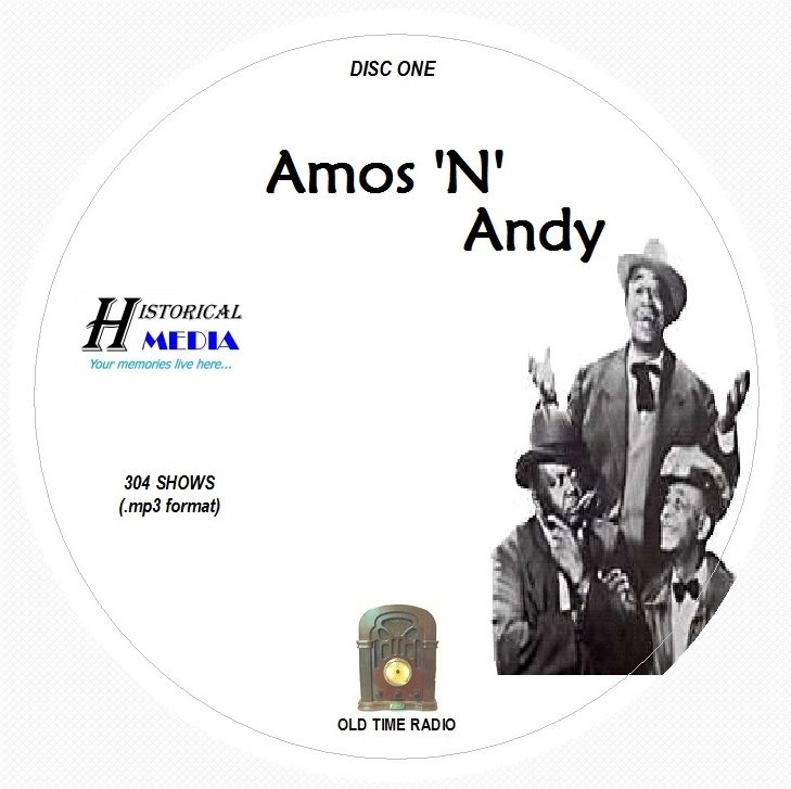 AMOS 'N ANDY - 304 Shows Old Time Radio In MP3 Format OTR 3 CDs