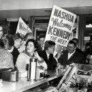 SEN. JOHN KENNEDY CAMPAIGNS IN NASHUA, N.H. MARCH, 1960 - 8X10 PHOTO (BB-853)