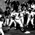 CARLTON FISK WINS GAME 6 OF 75 WORLD SERIES BOSTON RED SOX - 8X10 PHOTO (ZY-056)