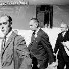 PRESIDENT LYNDON JOHNSON LEAVES PARKLAND HOSPITAL IN DALLAS 8X10 PHOTO (BB-864)