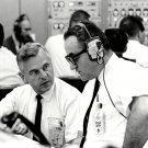 ROCCO PETRONE & WALTER KAPRYAN DURING APOLLO 7 TEST - 8X10 NASA PHOTO (BB-902)