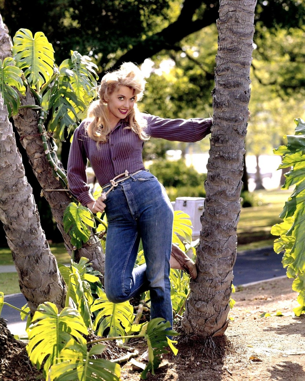 DONNA DOUGLAS IN 'THE BEVERLY HILLBILLIES' CBS TV 8X10 PUBLICITY PHOTO (CC-048)