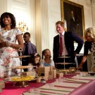 MICHELLE OBAMA WITH PRINCE HARRY OF WALES & JILL BIDEN - 8X10 PHOTO (CC-059)