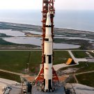 APOLLO 13 ON LAUNCH PAD 39A THE EVENING BEFORE LAUNCH - 8X10 NASA PHOTO (BB-923)