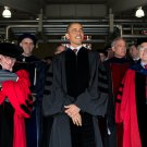 PRES BARACK OBAMA BEFORE COMMENCEMENT SPEECH AT OHIO STATE - 8X10 PHOTO (CC-061)