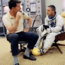 ASTRONAUT GUS GRISSOM & WALLY SCHIRRA PRIOR TO GEMINI 3 8X10 NASA PHOTO (BB-946)