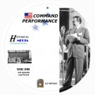 COMMAND PERFORMANCE - 226 Shows Old Time Radio MP3 Format OTR 8 CDs *HI QUALITY*