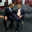 PRESIDENT BARACK OBAMA WITH HOUSE SPEAKER JOHN BOEHNER - 8X10 PHOTO (CC-091)
