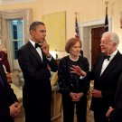 BARACK OBAMA & CHINA'S HU JINTAO w/ JIMMY CARTER AND BIDEN - 8X10 PHOTO (BB-998)