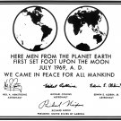 REPLICA OF PLAQUE LEFT ON MOON BY APOLLO 11 ASTRONAUTS 8X10 NASA PHOTO (CC-101)