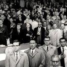PRES. JOHN F. KENNEDY AT OPENING DAY 1961 BASEBALL SEASON - 8X10 PHOTO (BB-246)