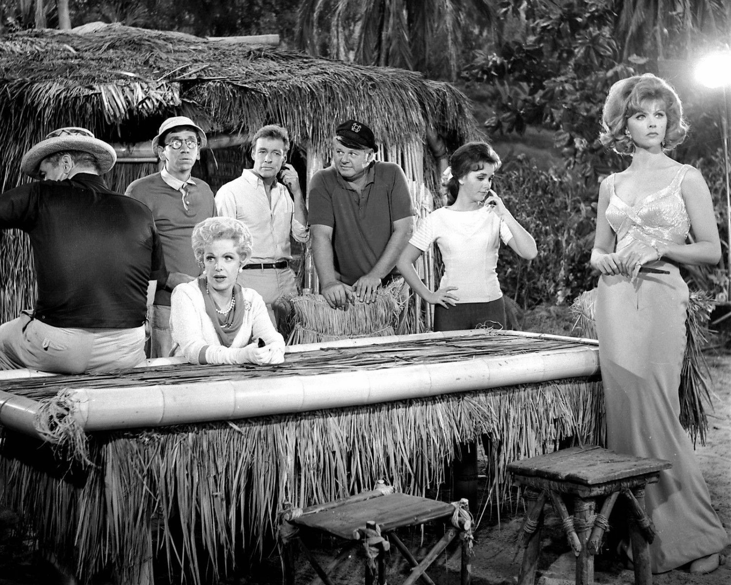 THE FULL CAST OF 'GILLIGAN'S ISLAND' - 8X10 PUBLICTY PHOTO (ZY-174)
