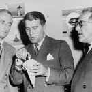 DR. WERNHER VON BRAUN WITH DR. HEINZ HABER AND WILLY LEY - 8X10 PHOTO (ZZ-157)