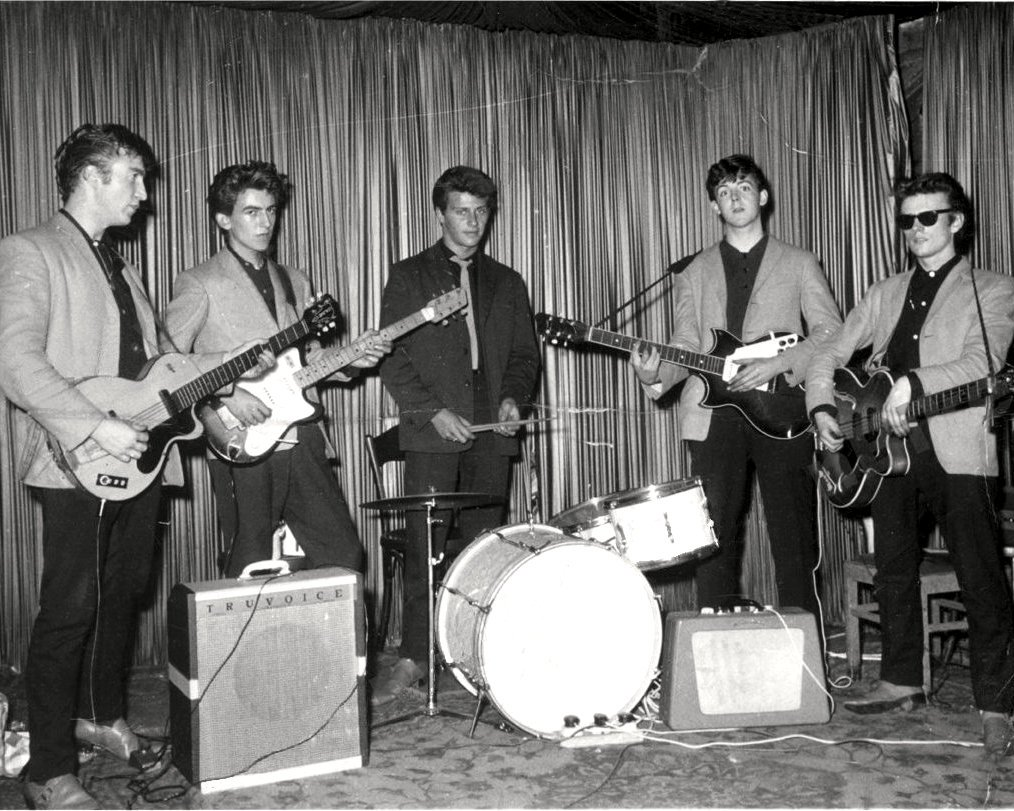 """SILVER"" BEATLES @ INDRA CLUB IN HAMBURG 1960 - 8X10 PUBLICITY PHOTO (CC-112)"