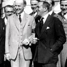 PRESIDENT CALVIN COOLIDGE w/ ENTERTAINER AL JOLSON IN 1924 - 8X10 PHOTO (CC-114)