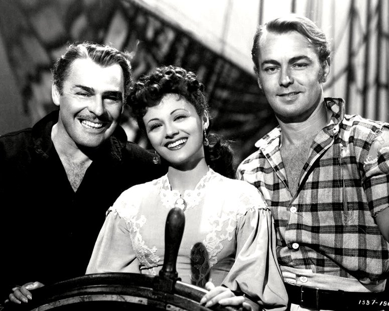 BRIAN DONLEVY AND ALAN LADD IN 'TWO YEARS BEFORE THE MAST' - 8X10 PHOTO (DA-719)