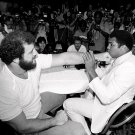 MUHAMMAD ALI AND LYLE ALZADO DENVER IN JUNE 1979 - 8X10 SPORTS PHOTO (ZY-213)