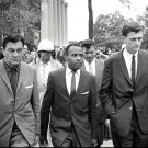 JAMES MEREDITH WALKS TO CLASS AT OLE MISS w/ U.S. MARSHALS - 8X10 PHOTO (ZZ-615)