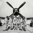 P-47 THUNDERBOLT FIGHTER TEST PILOTS AT LANGLEY IN 1945 - 8X10 PHOTO (EP-235)