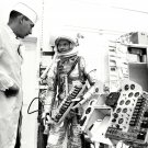 GORDO COOPER CHECKS INSTRUMENT PANEL MERCURY ASTRONAUT 8X10 NASA PHOTO (AA-634)