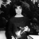 FIRST LADY JACKIE KENNEDY RECEIVES SILVER PITCHER GIFT - 8X10 PHOTO (ZZ-501)