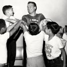 "GEORGE REEVES IN ""ADVENTURES OF SUPERMAN"" WITH KID FANS - 8X10 PHOTO (DA-449)"