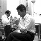 FRANK SINATRA & DEAN MARTIN TAKE SMOKE BREAK DURING SESSION 8X10 PHOTO (AA-253)