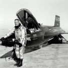 NEIL ARMSTRONG STANDS NEXT TO X-15 AIRCRAFT NASA TEST PILOT 8X10 PHOTO (EP-129)