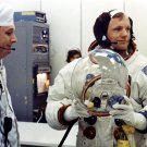 ASTRONAUT NEIL ARMSTRONG PRIOR TO LAUNCH OF APOLLO 11 - 8X10 NASA PHOTO (EP-382)