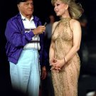 BOB HOPE AND BARBARA EDEN DURING USO SHOW ABOARD USS OKINAWA 8X10 PHOTO (XZZ-022)