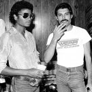 MICHAEL JACKSON AND FREDDIE MERCURY IN 1980 - 8X10 PUBLICITY PHOTO (OP-046)