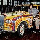JOHN LENNON & JULIAN w/ PSYCHEDELIC ROLLS ROYCE PHANTOM V - 8X10 PHOTO (OP-059)