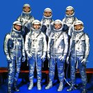 ORIGINAL MERCURY 7 ASTRONAUTS IN SPACESUITS - 8X10 NASA PHOTO (EP-011)