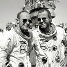 ASTRONAUTS PETE CONRAD & GORDON COOPER AFTER GEMINI 5 - 8X10 NASA PHOTO (EP-017)